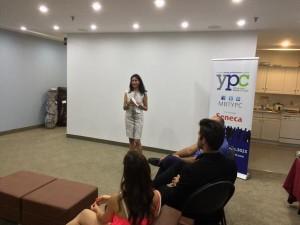 Raheela Nanji speaking at Markham Board of Trade's YPC event 17th September 2015